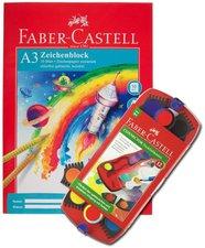 Faber-Castell Connector Deckfarbkasten 12-er mit Zeichenblock A3
