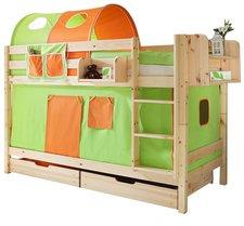 Ticaa Etagenbett Marcel - Classic grün/orange
