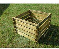 Apollo Gardening Ltd Holz-Komposter 91,5 x 91,5 x 61 cm