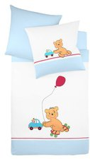 Fleuresse Bettwäsche Bär auf Rollschuhen (100 x 135)