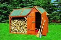 Promex Goslar Holz-Geräteschrank mit Anbau 291 x 136 x 205 cm