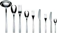 Alessi KnifeForkSpoon 18/10 poliert Besteckgarnitur 75 tlg. mit Zylinderblockmesser