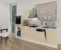 Respekta Küchenzeile Premium 280 cm vanille-weiß (RP280HWVA)