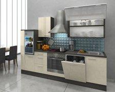 Respekta Küchenzeile Premium 280 cm vanille-eiche grau (RP280EVAC)