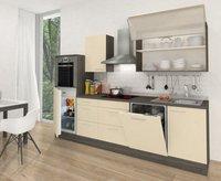 Respekta Küchenzeile Premium 280 cm Vanille-Eiche Grau (RP280HEVA)