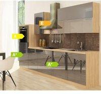Respekta Küchenzeile Premium 280 cm Grau-Akazie (RP280HAG)