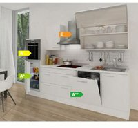 Respekta Küchenzeile Premium 280 cm Weiß (RP280HWW)