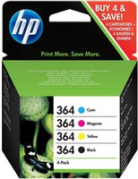 Hewlett Packard HP Nr. 364 Combo Content Pack 4-farbig (J3M82AE)