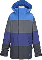 Burton Boys Symbol Snowboard Jacket Mascot / Bog / Deep Sea / True Black
