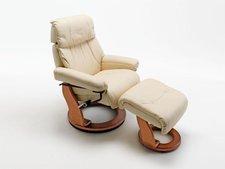 MCA-furniture Relaxsessel Winnipeg inkl. Hocker creme (64025CH5)