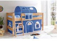 Ticaa Hochbett Lara - Landhaus blau/weiß
