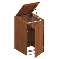 TraumGarten Mülltonnenbox Hartholz für 1 x 240 Liter Tonne mit Klappdeckel