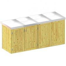 TraumGarten Mülltonnenbox Nadelholz für 4 x 240 Liter Tonnen mit Pflanzschalen