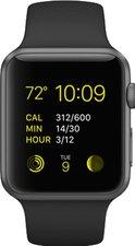 Apple Watch Sport Aluminiumgehäuse 42mm grau mit Sportarmband black