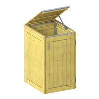 TraumGarten Mülltonnenbox Nadelholz für 1 x 240 Liter Tonne mit Klappdeckel