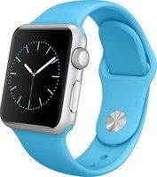 Apple Watch Sport Aluminiumgehäuse 38mm silber mit Sportarmband blue