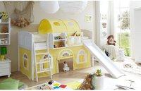 Ticaa Rutschbett Ekki - Landhaus gelb/weiß