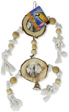 Nobby Vogelspielzeug mit Glocke, Holz und Seil (55 x 19 cm)