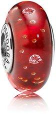 Pandora Murano Rotes Glitzerglas (791631CZ)