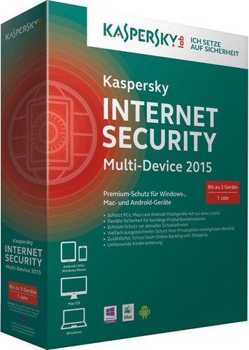 Kaspersky Internet Security 2015 Multi Device (3 User) (1 Jahr) (Multi) (Win)