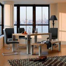 MCA-furniture Freischwinger Echtleder Schwarz (3017SLS)