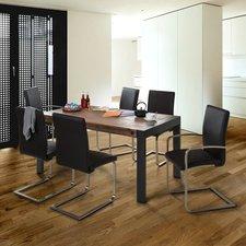 MCA-furniture Freischwinger Echtleder braun (3017SLB)