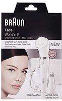 Braun Face 831 Gesichtsepilierer & Reinigungsbürste Premium Edition (Spiegel + Tasche)