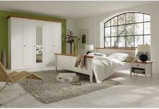 Landhaus Classic Kleiderschrank Korsika weiß bernsteinfarben