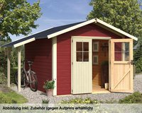 Woodfeeling Aktionshaus 2 Pultdach (274 x 274 cm) natur