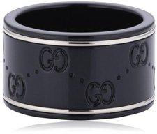 Gucci Icon black breit Weissgoldring (YBC225976001)