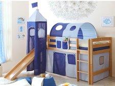 Ticaa Rutschbett Toby mit Turm - Classic hellblau/dunkelblau