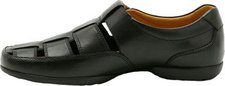 Clarks Recline Open black leather