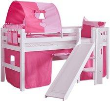 Relita Spielbett Eliyas weiß - mit Stoffset (rosa/pink)