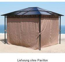 Grasekamp Alu-Pavillon Hardtop Seitenwand-Set 3 x 3 m