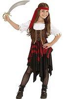 Widmann Kinderkostüm Piratin Kleid Korsett Stirnband