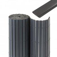 Jarolift Premium Sichtschutzmatte PVC mit Abdeckprofil 900 x 140 cm