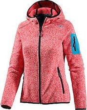 CMP Campagnolo Woman Fleece Jacket Fix Hood (3H19826) Scarlet-Bianco
