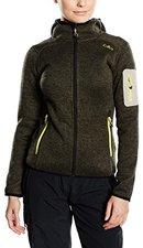 CMP Campagnolo Woman Fleece Jacket Fix Hood (3H19826) Forest-Nero