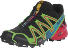 Salomon Speedcross 3 black/granny green/bright red
