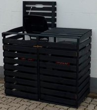 Promex Mülltonnenbox 2 x 120 Liter anthrazit