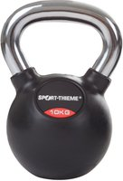 Sport Thieme Kettlebell gummiert mit glattem Chrom-Griff 10 kg