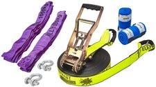 Elephant Slackline Freak Flashline-Set Slackline 25m neon-gelb