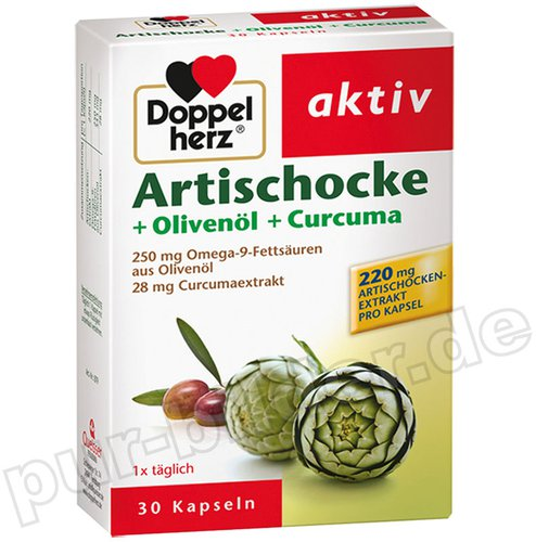 Doppelherz aktiv Artischocke + Olivenöl + Curcuma Kapseln (30 Stk.)