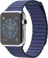 Apple Watch Edelstahl 42mm Loop-Lederarmband light blue
