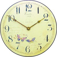 Roger Lascelles Butterfly Motif Wall Clock