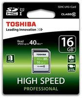 Toshiba HS Professional SD 16GB Class 10 UHS I (SD-T016UHS1(6)