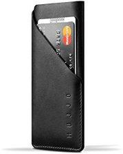mujjo Leder Wallet Sleeve schwarz (iPhone 6)