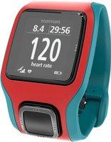 TomTom Runner Cardio GPS-Uhr rot/türkis