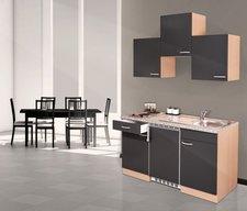 Respekta Küchenzeile 150cm Buche grau (KB150BG)
