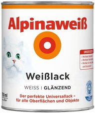 Alpina Farben Alpinaweiß Weißlack 750 ml glänzend